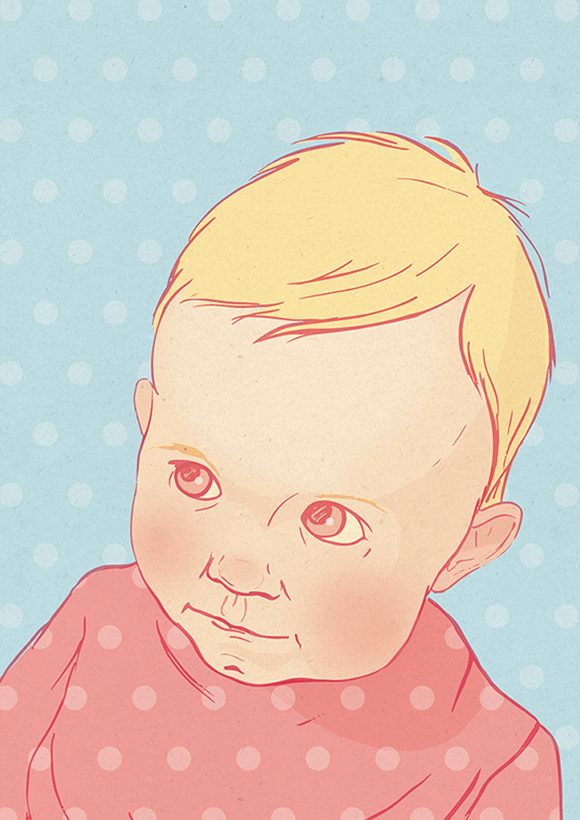 Baby Girl Illustration