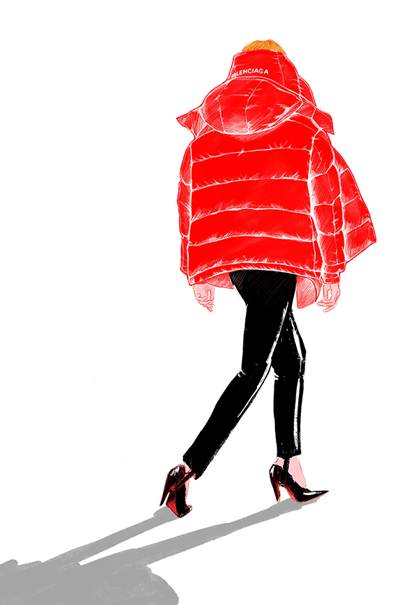 Balenciaga Fashion Illustration