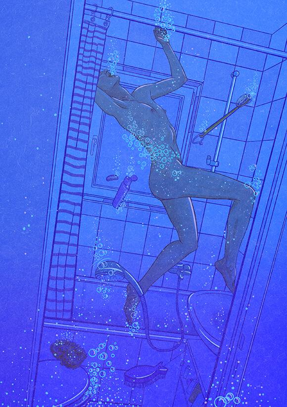 Blue Dreams Illustration