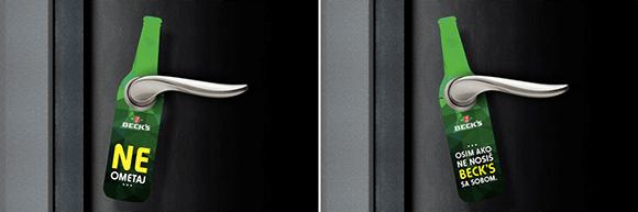Beck's Doorhanger Graphic Design