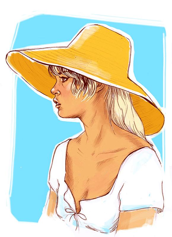 Brigitte Bardot Illustration