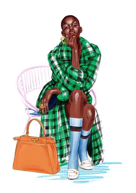 Fendi Fashion Illustration