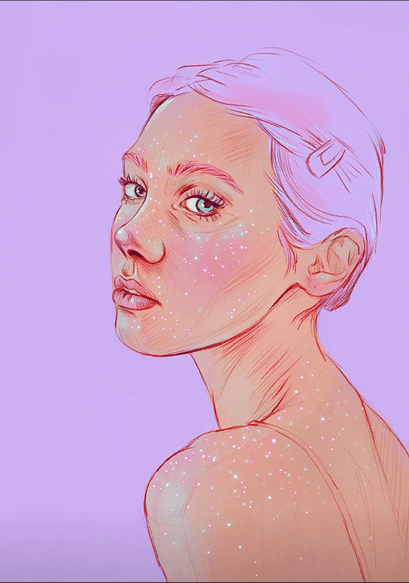 Glitter is always a good idea Illustration