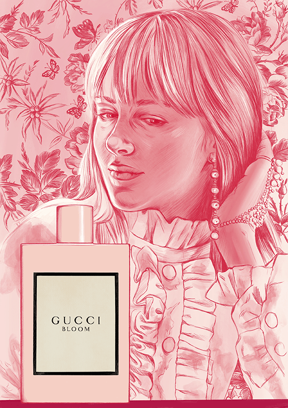 Gucci Bloom Fashion Illustration