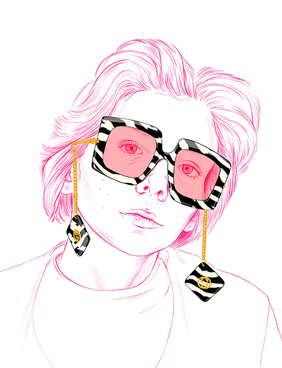 Gucci Glasses Fashion Illustration