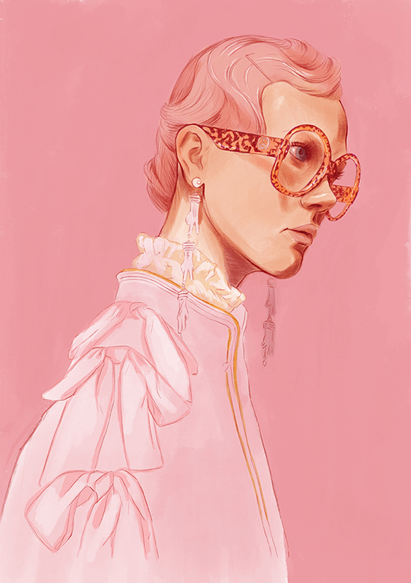 Gucci Pink Illustration