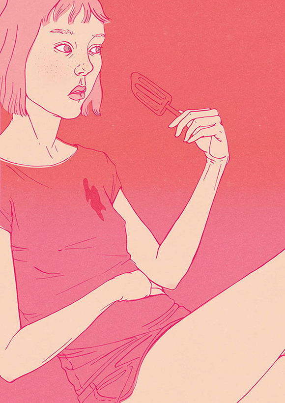I-Scream Pink Illustration