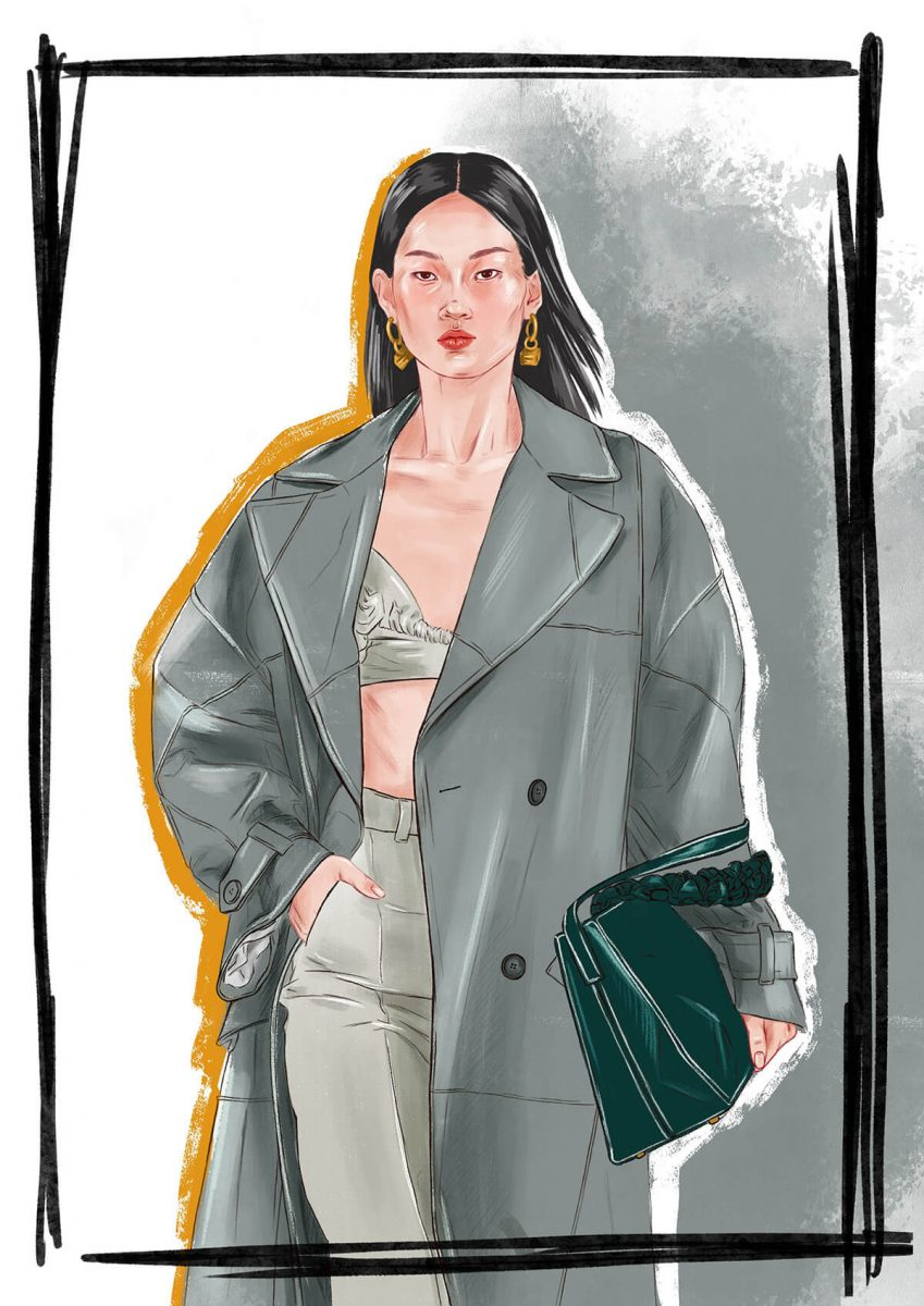 Jacquemus fashion illustration