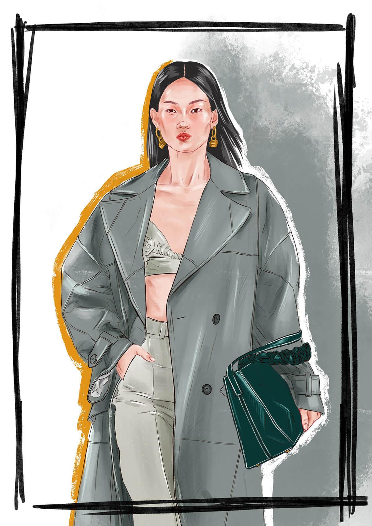 Jacquemus fashion illustration