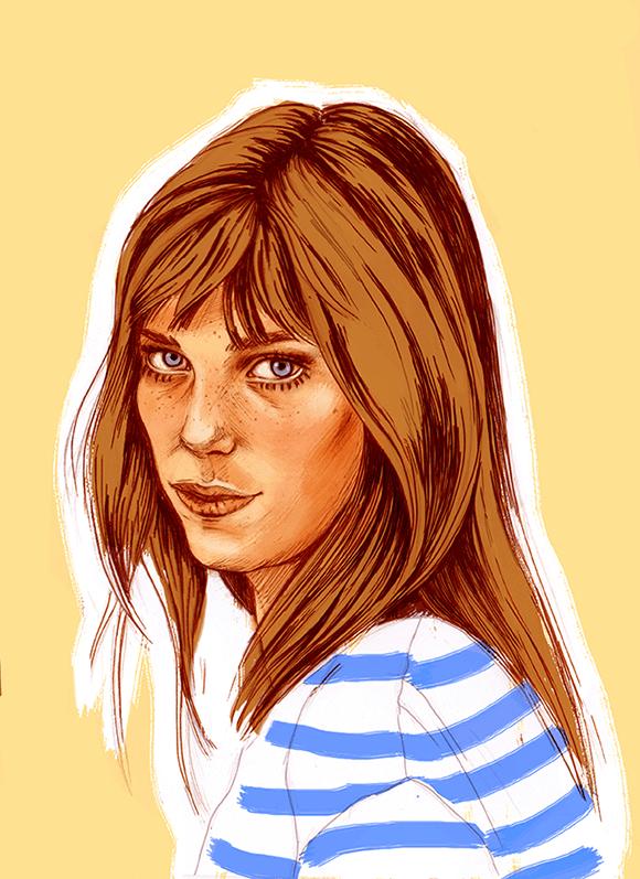 Jane Birkin-Illustration