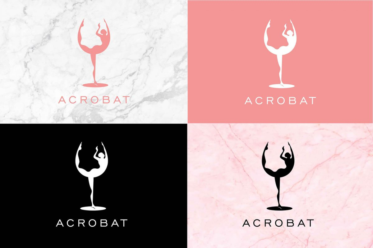 Logo proposal for beverages distribution company Acrobat 02 graphic design