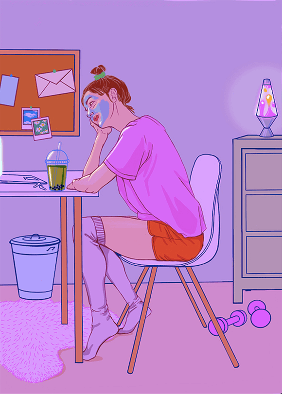 Long Distance Illustration