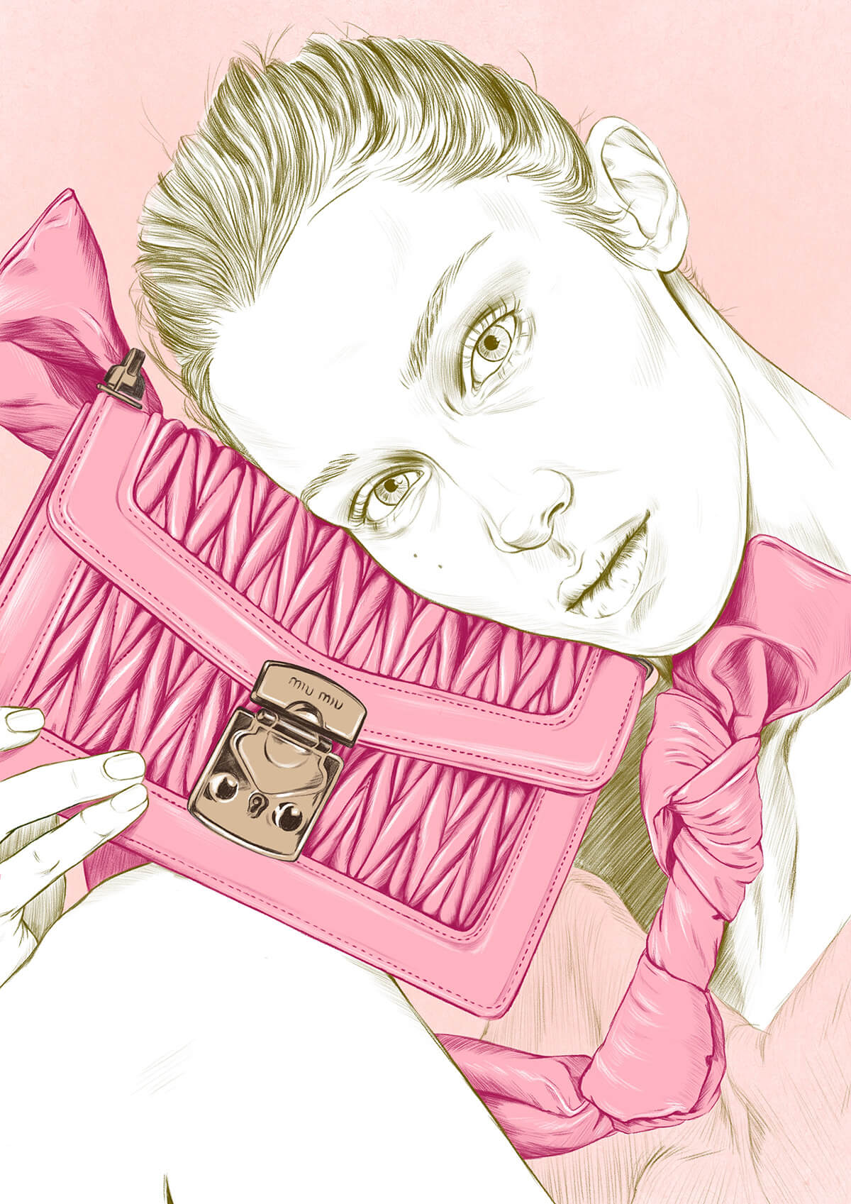 Miu Miu SS 2020 fashion illustration