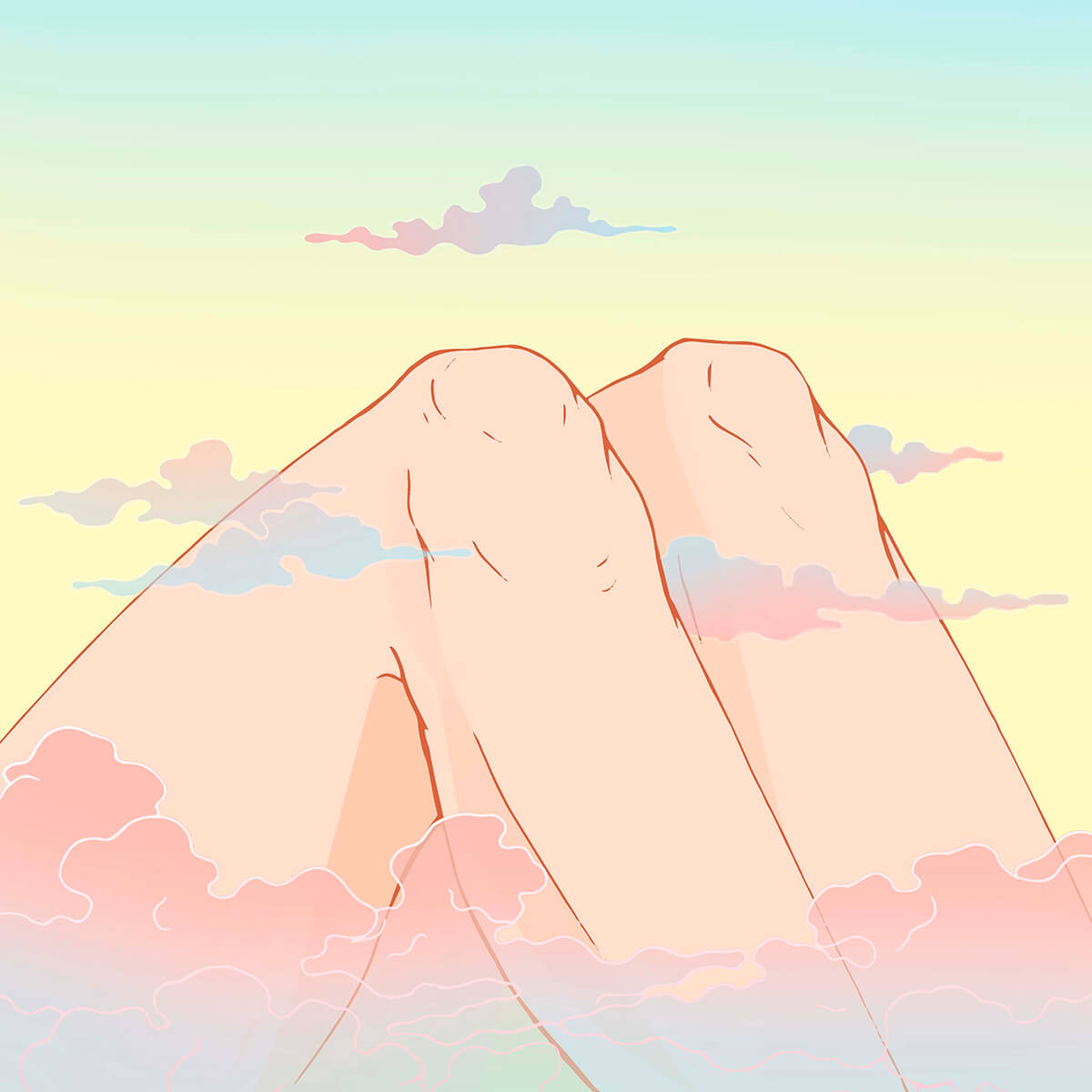 Mountains Knee illustration