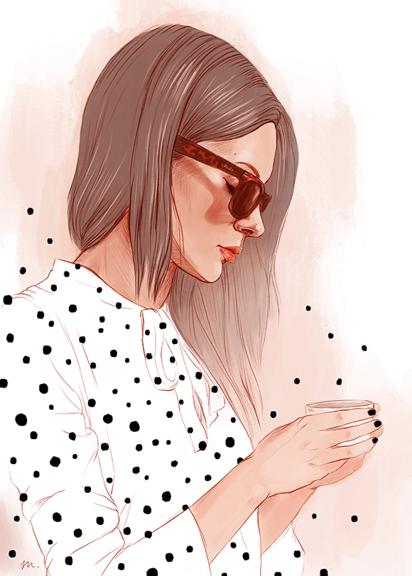 Portrait Dot Illustrations