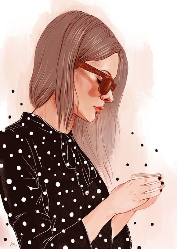 Portrait Dot  Illustrations
