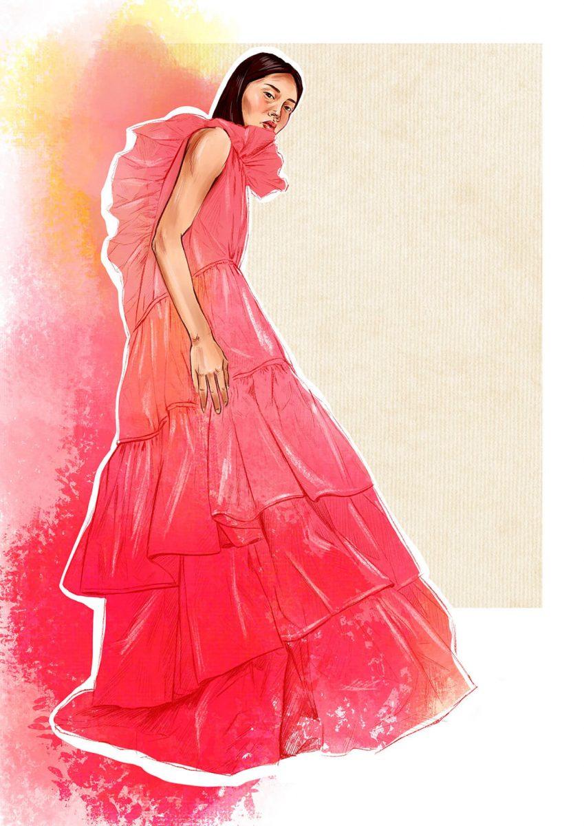 Roksanda Ilincic fashion illustration