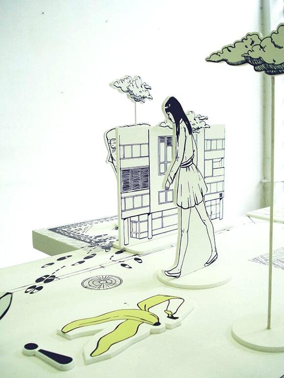 Shuffle Art Installation  Illustration