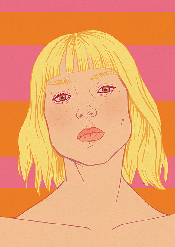Blonde Summer Illustration