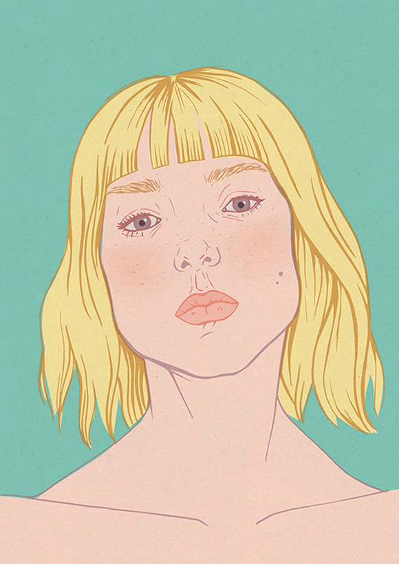 Blonde Summer Illustration