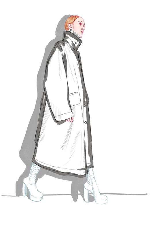 V. Beckham Fashion Illustration