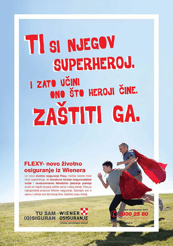Vienna Insurance Hero 01 Graphic Design